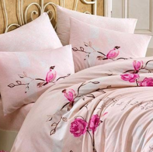 Lenjerie de pat Single Ranforce Lidia Pink - Vivre