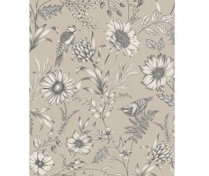 Tapet Botanical Songbird Natural 53x1005 cm