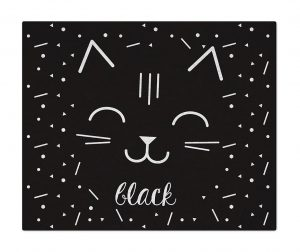 Covor Cat Black White 90x110 cm