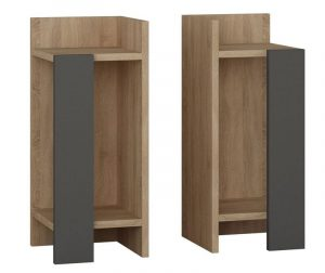 Set 2 noptiere Erra Oak Anthracite