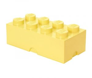 Cutie cu capac Lego Rectangular Extra Light Yellow