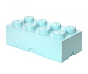 Cutie cu capac Lego Rectangular Extra Light Blue