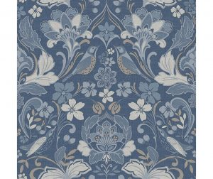 Tapet Folk Floral Denim Blue 53x1005 cm