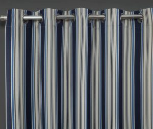 Set 2 draperii Brooklyn Blue 117x137 cm